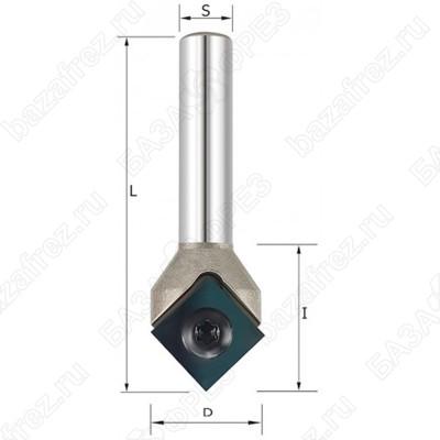 Фреза V образная со сменными ножами ROTIS 146180808 17.7x9x53x8