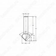 Фреза алмазная филёночная V образная TD-031 90° ROTIS 312212.01