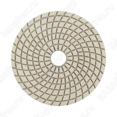 """Алмазный гибкий шлифовальный круг """"Черепашка"""" 100мм шаг 3 мокрое шлифование"""
