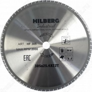 Диск пильный по металлу Hilberg Industrial Металл HF305 (305*25,4*72T)