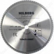 Диск пильный по металлу Hilberg Industrial Металл HF350 (350*25,4*80T)