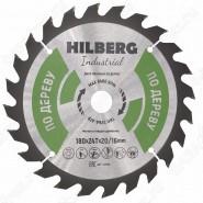 Диск пильный по дереву Hilberg Industrial Дерево HW180 (180*20/16*24T)