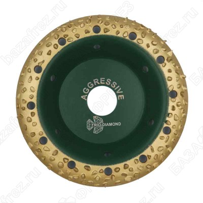 Чашка твердосплавная Trio-Diamond Grand 390101 125мм круглая шаг 1 Aggressive