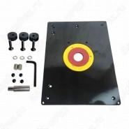 Плита для фрезерного стола пластиковая 310x230x10mm c упором Uniqtool UT-TAB03