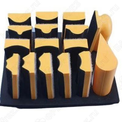 Набор мультипрофильных ручных шлифков на липучке Uniqtool UTG-0001