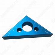 Линейка треугольная алюминиевая 75x75mm Uniqtool UTM-025T